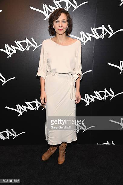 Actress Maggie Gyllenhaal attends VANDAL grand opening on January 15, 2016 in New York City.