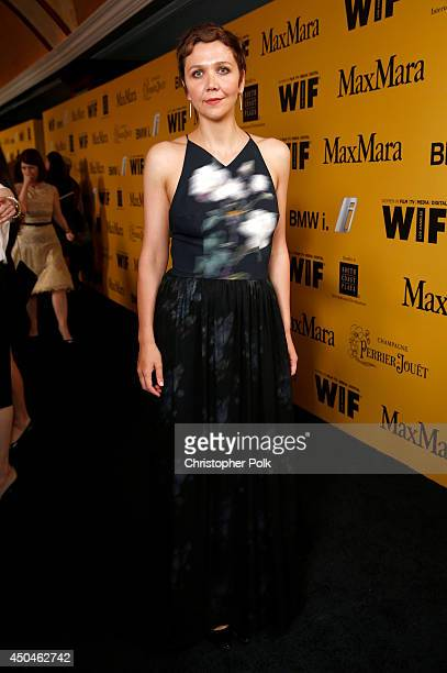 Actress Maggie Gyllenhaal attends Women In Film 2014 Crystal Lucy Awards presented by MaxMara BMW PerrierJouet and South Coast Plaza held at the...