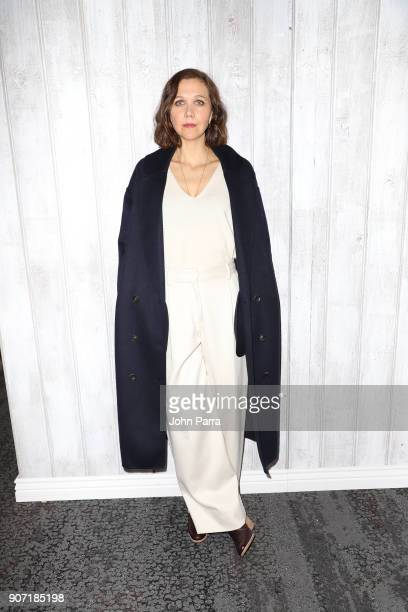 Actress Maggie Gyllenhaal from 'The Kindergarten Teacher' attends The Hollywood Reporter 2018 Sundance Studio at Sky Strada Park City on January 19...