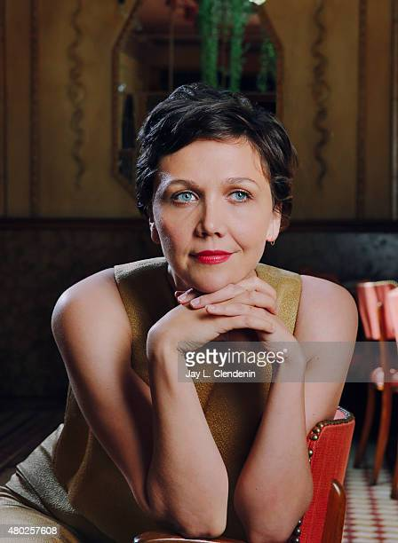 Actress Maggie Gyllenhaal is photographed for Los Angeles Times on May 19 2015 in Hollywood California Published Image CREDIT MUST READ Jay L...