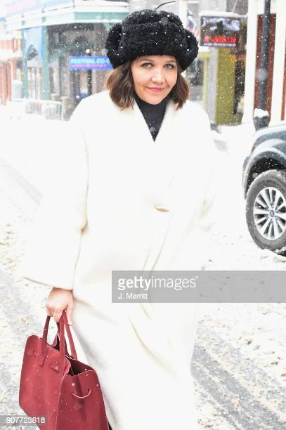 Actress Maggie Gyllenhaal is seen at the 2018 Sundance Film Festival on January 20 2018 in Park City Utah