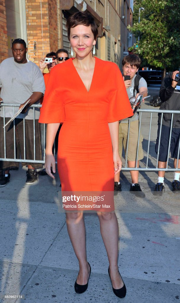 Actress Maggie Gyllenhaal is seen on July 30, 2014 in New York City.