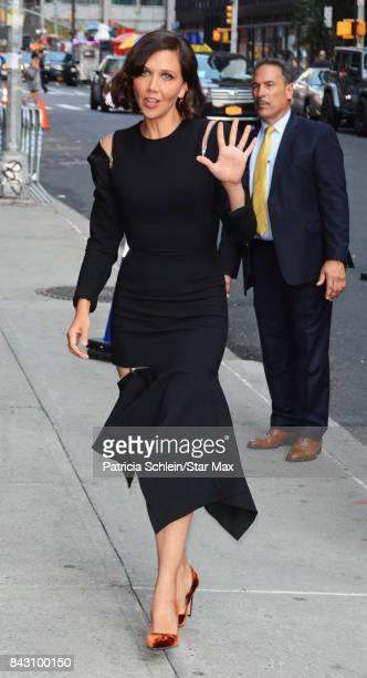 Actress Maggie Gyllenhaal is seen on September 5 2017 in New York City