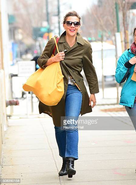 Actress Maggie Gyllenhaal is seen on set of 'Inside Amy Schumer' on February 4 2016 in New York City