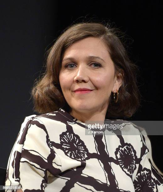 Actress Maggie Gyllenhaal visits SVA Theatre on October 26 2017 in New York City