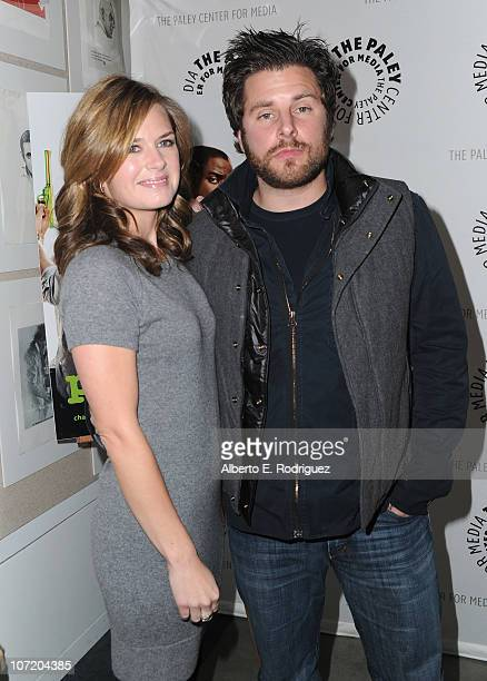 Actress Maggie Lawson and actor James Roday arrive to The Paley Center For Media's presentation of a Psych And Twin Peaks Reunion on November 29 2010...