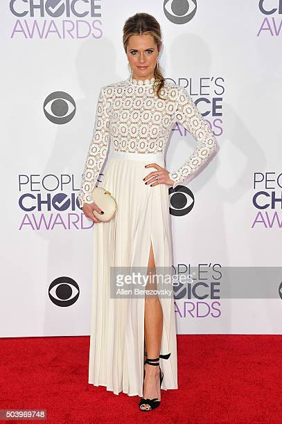 Actress Maggie Lawson arrives at the People's Choice Awards 2016 at Microsoft Theater on January 6 2016 in Los Angeles California