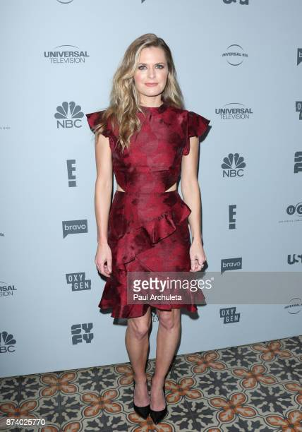 Actress Maggie Lawson attends NBCUniversal's press junket at Beauty Essex on November 13 2017 in Los Angeles California
