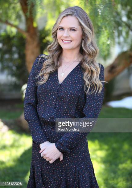 Actress Maggie Lawson visits Hallmark's Home Family at Universal Studios Hollywood on February 07 2019 in Universal City California