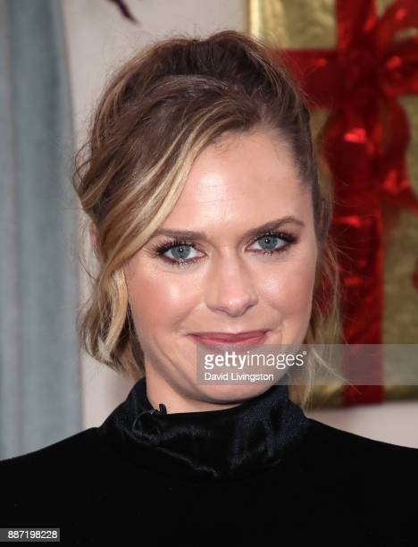 Actress Maggie Lawson visits Hallmark's 'Home Family' at Universal Studios Hollywood on December 6 2017 in Universal City California