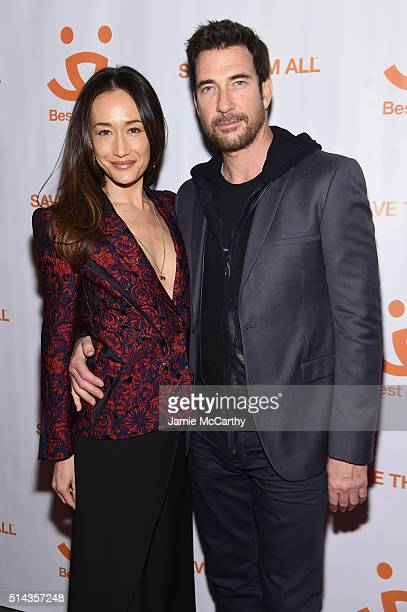 Actress Maggie Q and actor Dylan McDermott attend the New York Notables Gathering at the Best Friends Animal Society Benefit to Save Them All on...