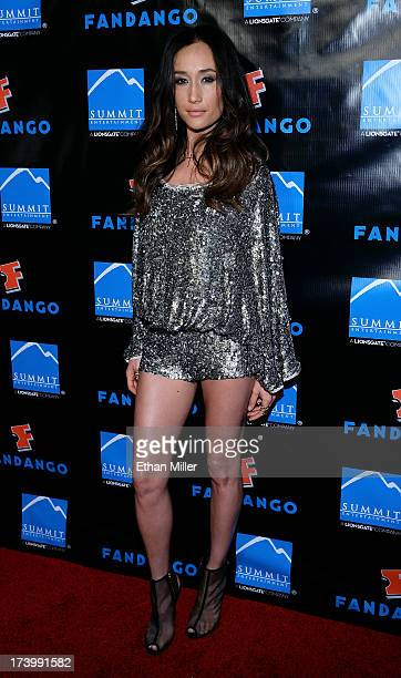 Actress Maggie Q arrives at Summit Entertainment's press event for the movies 'Ender's Game' and 'Divergent' at the Hard Rock Hotel San Diego on July...