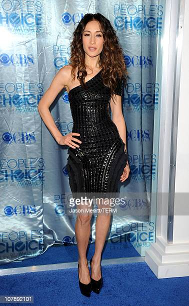 Actress Maggie Q arrives at the 2011 People's Choice Awards at Nokia Theatre LA Live on January 5 2011 in Los Angeles California