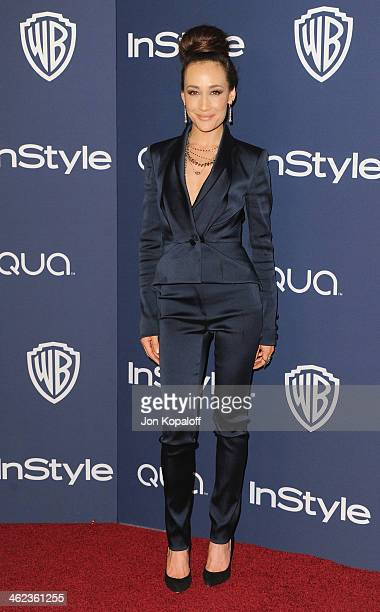 Actress Maggie Q arrives at the 2014 InStyle And Warner Bros 71st Annual Golden Globe Awards PostParty on January 12 2014 in Beverly Hills California