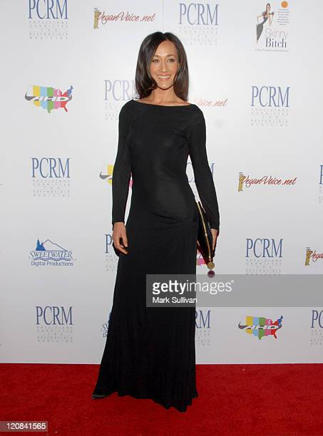 Actress Maggie Q arrives at The Art of Compassion PCRM 25th Anniversary Gala at The Lot in West Hollywood on April 10, 2010 in West Hollywood,...