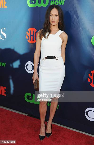 Actress Maggie Q arrives at the CBS The CW Showtime CBS Television Distribution 2014 Television Critics Association Summer Press Tour at Pacific...