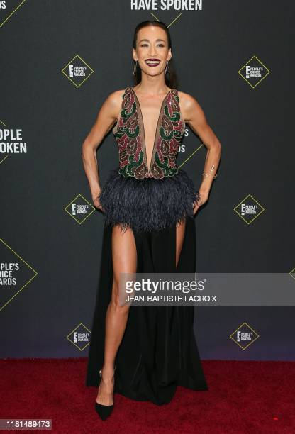 US actress Maggie Q arrives for the 45th annual E People's Choice Awards at Barker Hangar in Santa Monica California on November 10 2019