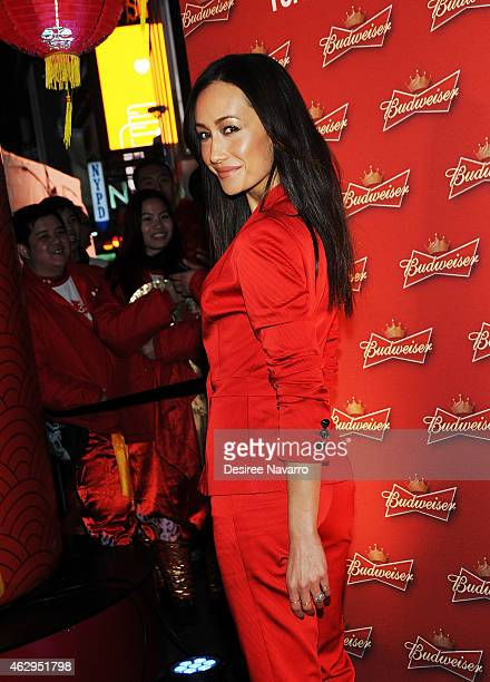 Actress Maggie Q attends Maggie Q Toasts The Chinese New Year at Times Square on February 7 2015 in New York City