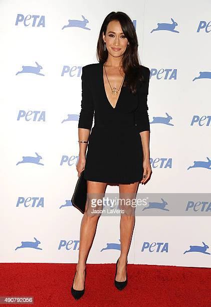 Actress Maggie Q attends PETA's 35th anniversary party at Hollywood Palladium on September 30 2015 in Los Angeles California