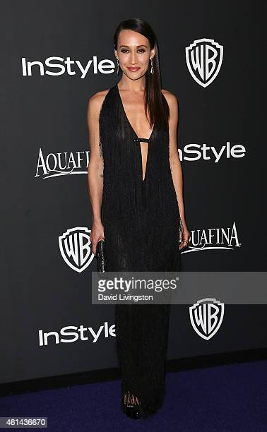 Actress Maggie Q attends the 2015 InStyle and Warner Bros 72nd Annual Golden Globe Awards PostParty at The Beverly Hilton Hotel on January 11 2015 in...