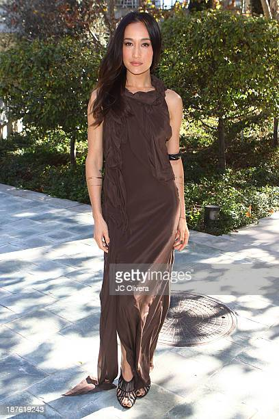 Actress Maggie Q attends the 6th annual Diamond in the RAWAction Icon Awards at Skirball Cultural Center on November 10 2013 in Los Angeles California