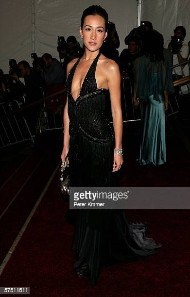 Actress Maggie Q attends the Metropolitan Museum of Art Costume Institute Benefit Gala Anglomania at the Metropolitan Museum of Art May 1 2006 in New...