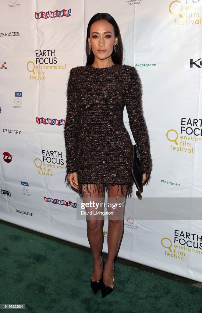 Actress Maggie Q attends the opening night of KCET & Link TV's EARTH FOCUS Environmental Film Festival screening of 'Love & Bananas - An Elephant Story' at Sony Pictures Studios on April 20, 2018 in Culver City, California.