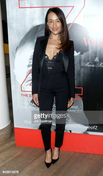 Actress Maggie Q attends the premiere of 'House of Z' hosted by Brooks Brothers with The Cinema Society at Crosby Street Hotel on September 7 2017 in...