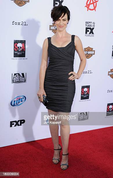 Actress Maggie Siff arrives at FX's Sons Of Anarchy Season 6 Premiere Screening at Dolby Theatre on September 7 2013 in Hollywood California