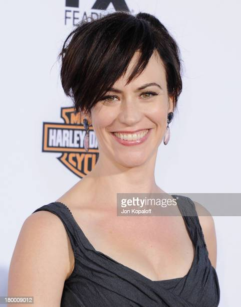 """Actress Maggie Siff arrives at FX's """"Sons Of Anarchy"""" Season 6 Premiere Screening at Dolby Theatre on September 7, 2013 in Hollywood, California."""