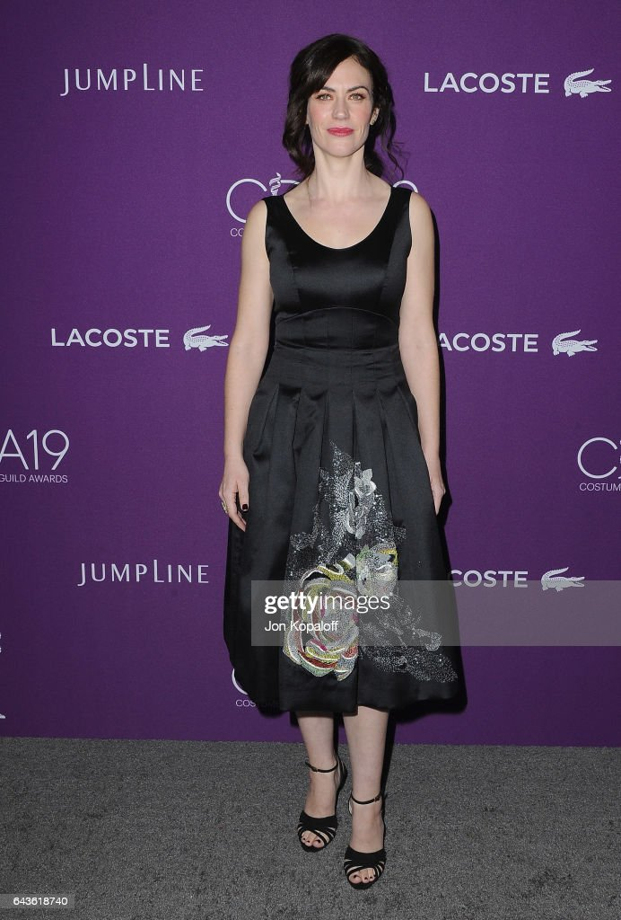 Actress Maggie Siff arrives at the 19th CDGA (Costume Designers Guild Awards) at The Beverly Hilton Hotel on February 21, 2017 in Beverly Hills, California.