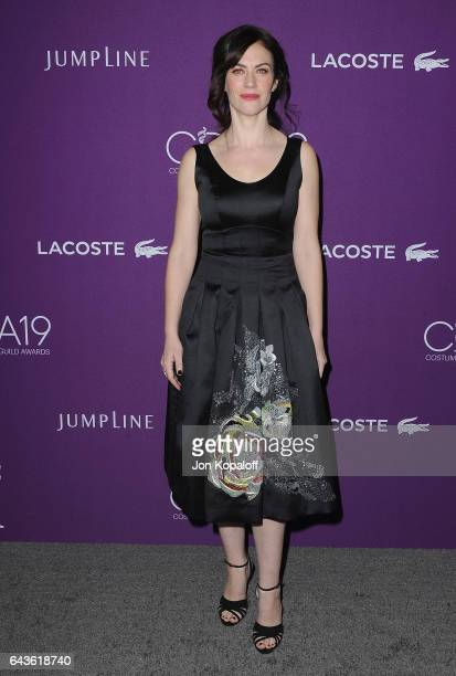 Actress Maggie Siff arrives at the 19th CDGA at The Beverly Hilton Hotel on February 21 2017 in Beverly Hills California