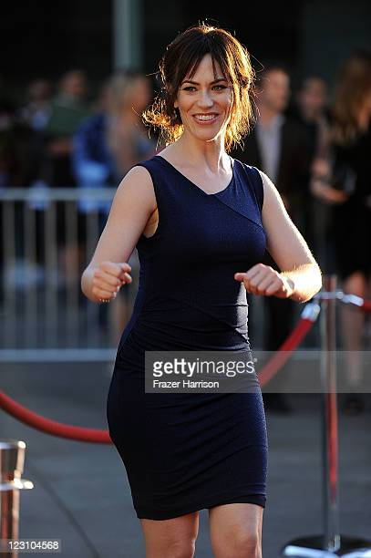 Actress Maggie Siff arrives at the Screening of FX's Sons Of Anarchy Season 4 Premiere at ArcLight Cinemas Cinerama Dome on August 30 2011 in...
