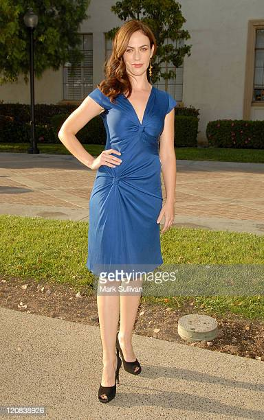 """Actress Maggie Siff arrives at the season two premiere screening of """"Sons Of Anarchy"""" at the Paramount Theater on the Paramount Studios lot on August..."""