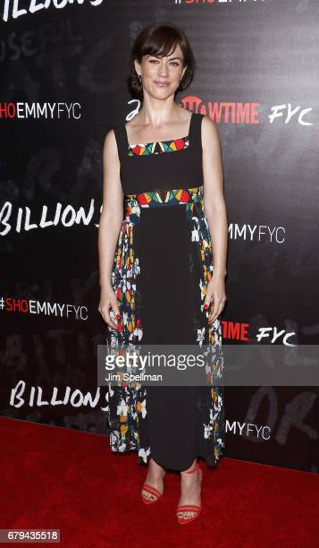 Actress Maggie Siff attends Showtime's Billions For Your Consideration red carpet event at NYIT Auditorium on May 5 2017 in New York City