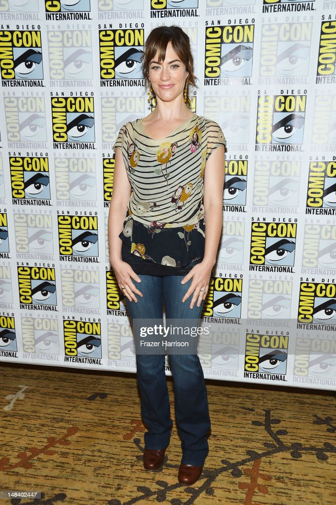 Actress Maggie Siff attends 'Sons of Anarchy' press line during Comic-Con International 2012 at Hilton San Diego Bayfront Hotel on July 15, 2012 in San Diego, California.