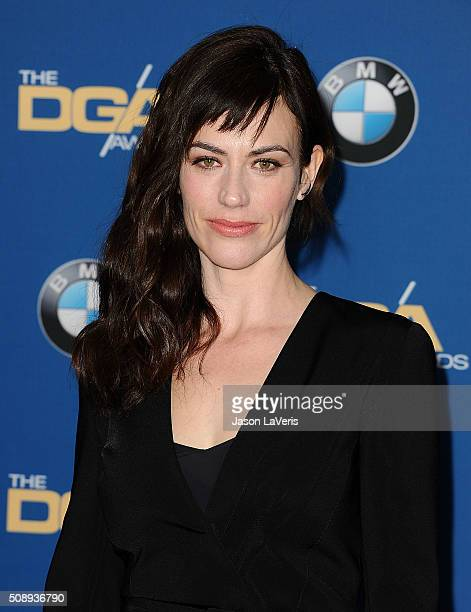 Actress Maggie Siff attends the 68th annual Directors Guild of America Awards at the Hyatt Regency Century Plaza on February 6, 2016 in Los Angeles,...