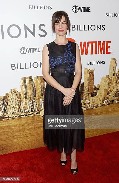 Actress Maggie Siff attends the 'Billions' series premiere at Museum of Modern Art on January 7 2016 in New York City