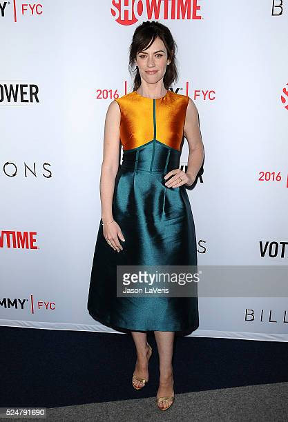 """Actress Maggie Siff attends the For Your Consideration screening and panel for Showtime's """"Billions"""" at The WGA Theater on April 26, 2016 in Beverly..."""