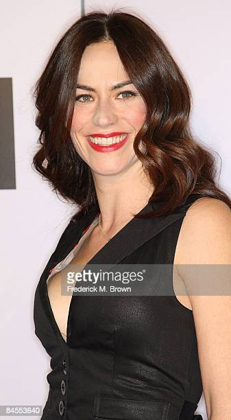 Actress Maggie Siff attends the Push film premiere at the Mann Village Theater on January 29 2009 in Westwood California