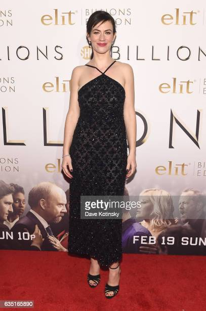 Actress Maggie Siff attends the Showtime and Elit Vodka hosted BILLIONS Season 2 premiere and party, held at Cipriani's in New York City on February...