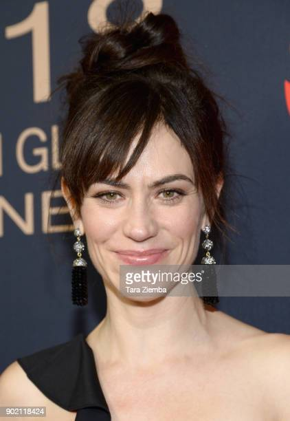 Actress Maggie Siff attends the Showtime Golden Globe Nominees Celebration at Sunset Tower on January 6 2018 in Los Angeles California