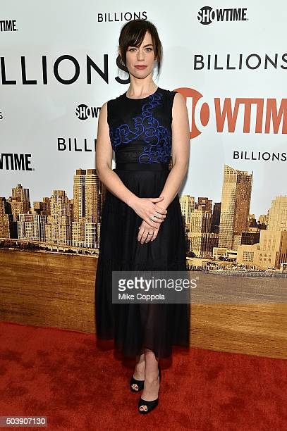 Actress Maggie Siff attends the Showtime series premiere of Billions at The New York Museum Of Modern Art on January 7 2016 in New York City