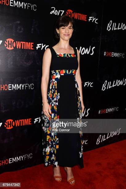 Actress Maggie Siff attends the SHOWTIMEpresented screening panel discussion and reception for episode 211 of the hit series BILLIONS held at the...