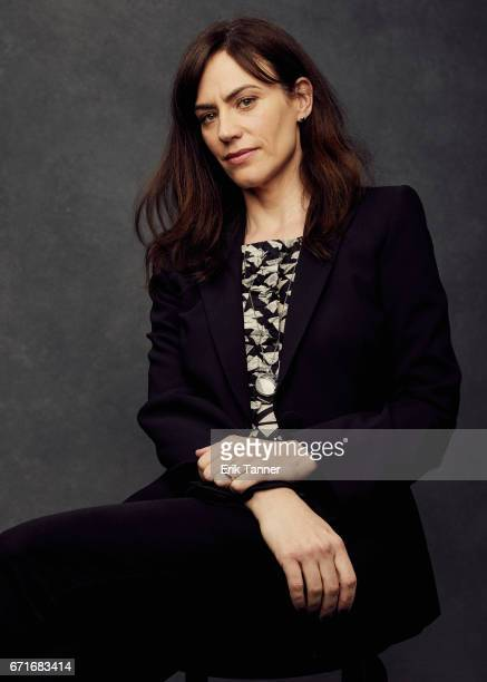 Actress Maggie Siff from 'One Percent More Humid' poses at the 2017 Tribeca Film Festival portrait studio on on April 22 2017 in New York City