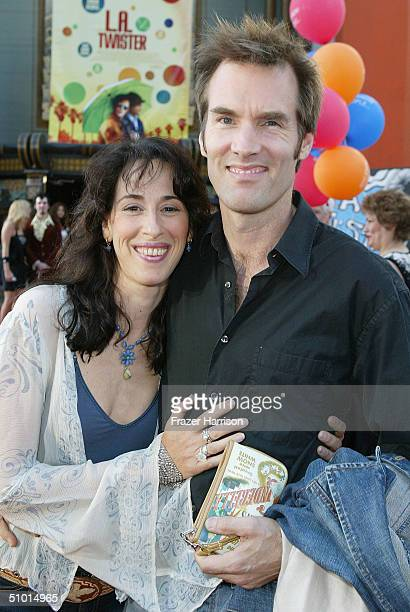 """Actress Maggie Wheeler and husband Daniel Wheeler arrive at the World Premiere of """"LA Twister"""" on June 30, 2004 at the Grauman's Chinese Theatre, in..."""