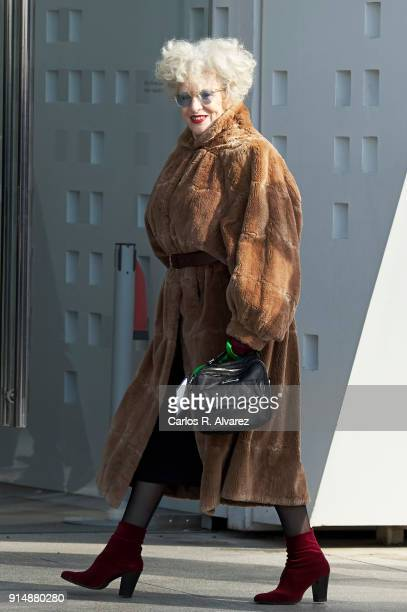 Actress Magui Mira attends the Gold Medals of Merit in Fine Arts 2016 ceremony at the Pompidou Center on February 6 2018 in Malaga Spain