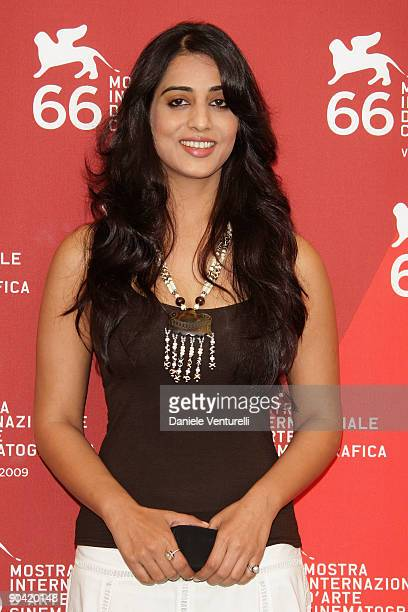 Actress Mahi Gill attends the DevD Photocall at the Palazzo del Cinema during the 66th Venice Film Festival on September 7 2009 in Venice Italy
