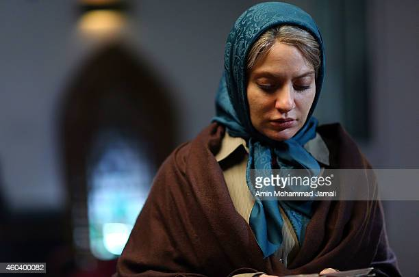 Actress Mahnaz Afshar Acts during the 'Sperm Whale' Movie on December 12 2014 in Tehran Iran
