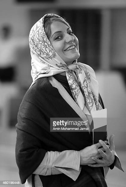 Actress Mahnaz Afshar on the set of 'Sperm Whale' Movie on December 9 2014 in Tehran Iran
